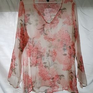 Stunning Lane Bryant floral cover-up